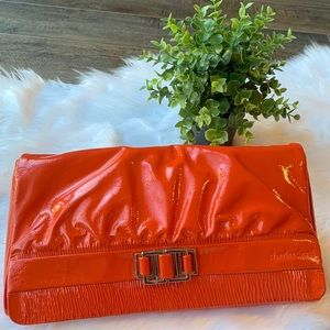 New Charles David leather clutch
